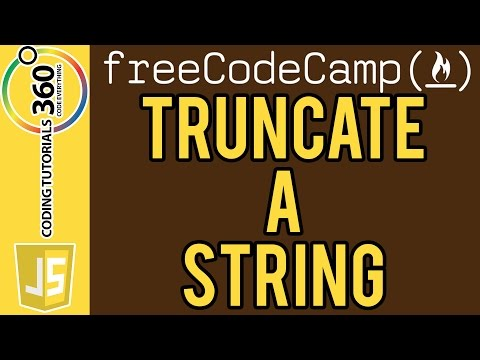 Truncate a String JavaScript Free Code Camp
