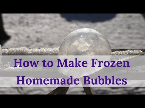 How to Make Frozen Homemade Bubbles