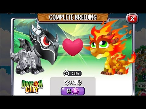 Double Metal Dragon vs Double Flame Dragon | Dragon City [RARE Breeding Dragon]