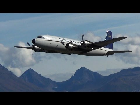 Everts DC6 taking off - Only in Alaska!
