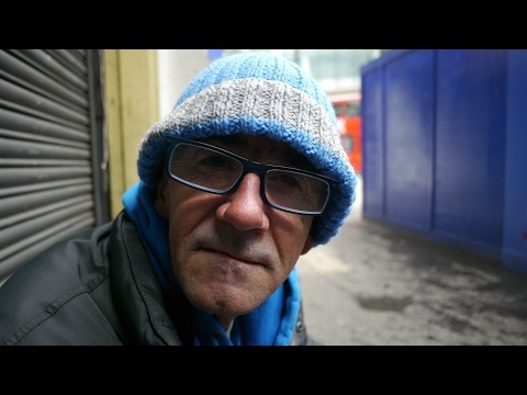 Mark shares the realities of sleeping rough homeless on the streets of London.