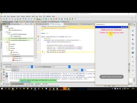 Android tutorial: Multiple language in Android development