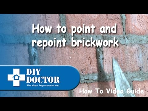 Pointing and repointing brickwork and blockwork