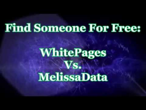 Find Someone For Free WhitePages Vs. MelissaData