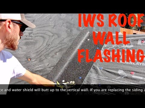 How to flash a roof and wall junction with ice and water shield