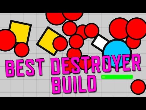 Diep.io! Best Destroyer Build! No Hack or Mod Game Walkthrough