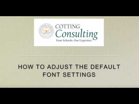 Google Docs:  How to change the default font and size