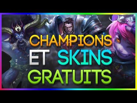 Guide League of Legends - 3 Skins et Champions GRATUITS