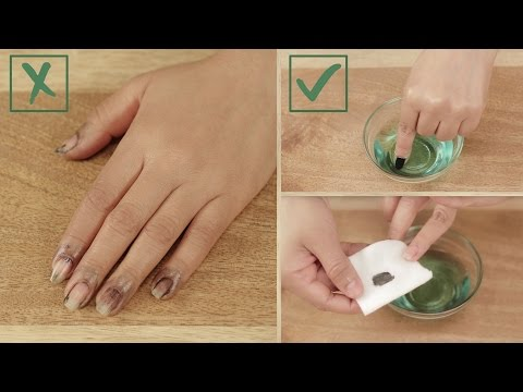 How to Remove Dark Nail Polish Without Staining Your Fingers - Glamrs