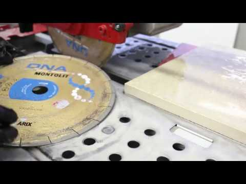 Watch out the SCX250 diamond blade in action on 2 cm porcelain tile.