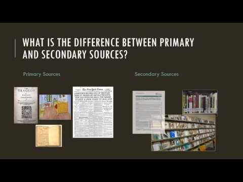 Research Minute: Primary vs. Secondary Sources