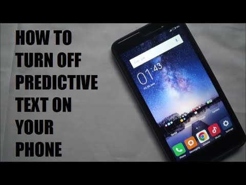 How to turn off predictive text on a Xiomi device