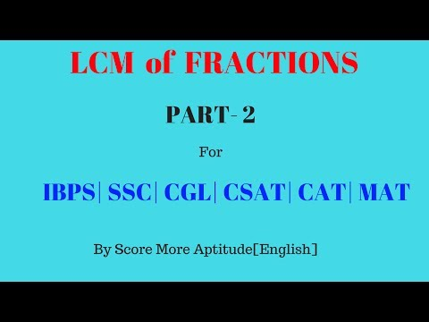 LCM Of Fractions | Part 2
