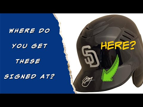 Rawlings Baseball Batting Helmets - Where to Get Autographed, Information - Powers Autographs