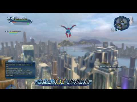 DCUO Spiderman Web Sling Free Roam: Part 1