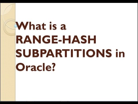 What is the RANGE-HASH SUBPARTITIONS in Oracle ?