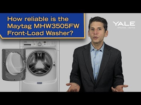 How reliable is the Maytag MHW3505FW front-load washer?