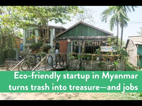 Myanmar's eco-friendly startup transforms trash into treasure—and jobs