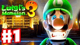 Luigi's Mansion 3 - Gameplay Walkthrough Part 1 - Welcome to the Last Resort! (Nintendo Switch)