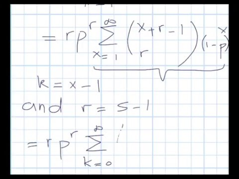 Negative Binomial Distribution: Expected Value