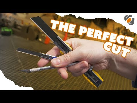 How to Make Perfect Cuts in EVA Foam with Sharp Knives - TUTORIAL