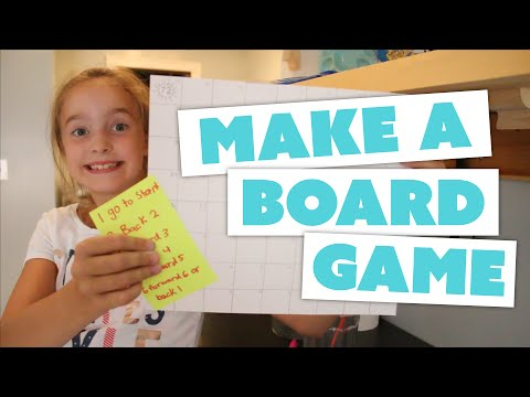 HOW TO MAKE A BOARD GAME at home – with Lillie