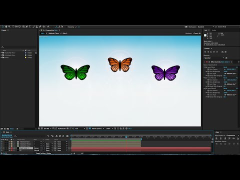 Deferent methods to animate butter flys in after effects 2017