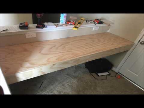 DiY: How to build a floating desk (4K)