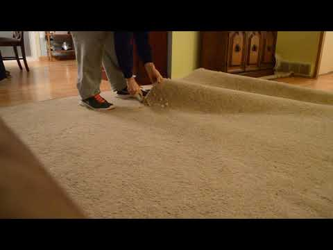 How to take out Carpet - the easy way - kitchen knife