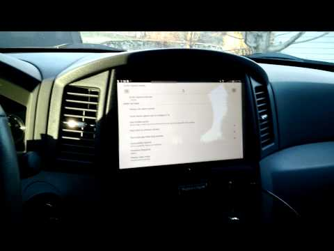 Brief preview of an Android tablet backup camera functioning in Jeep  (Part 1)