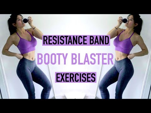 BEST Resistance Band Exercises for the GLUTES | At Home Workout