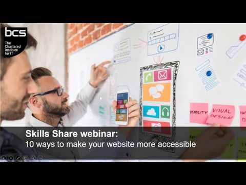 Skills Share Webinar:  How to make your website more accessible