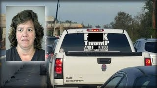 AFTER TX WOMAN PUTS VILE ANTI-TRUMP STICKER ON HER TRUCK SHE GETS HIT WITH INSTANT JUSTICE