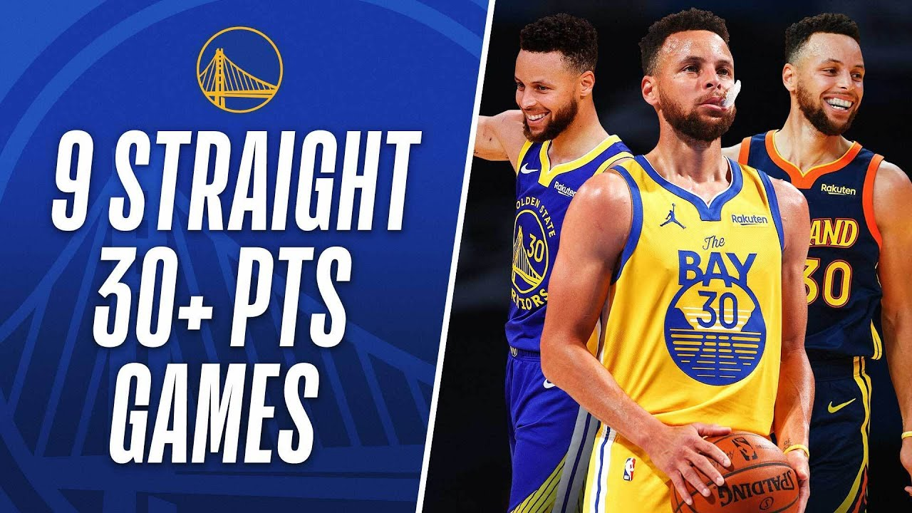 Best Buckets From Stephen Curry's 9-Straight Games of 30+ PTS