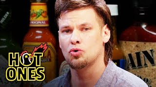Download Theo Von Fights the Dark Arts While Eating Spicy Wings | Hot Ones Video