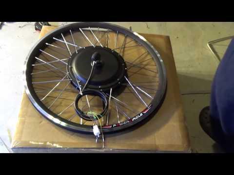 Unbox: 1000W 48V Electric Bike brushless Front hub motor conversion kit w/ Standard 26