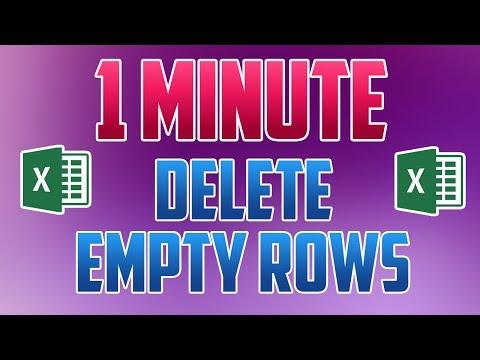 Excel 2016 : How to Delete Empty Rows