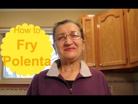 How to fry polenta
