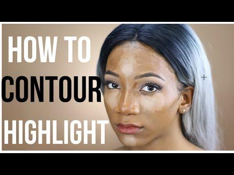 How to Contour & Highlight a Small Face (Powder + Cream Tutorial) 2018 | Annesha Adams