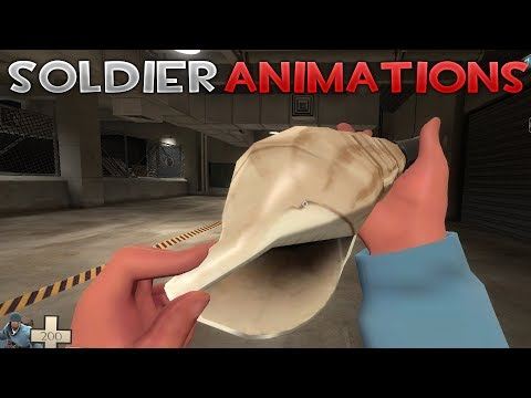 [TF2] ALL NEW JUNGLE INFERNO SOLDIER INSPECT ANIMATIONS!