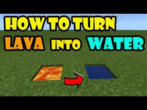 HOW TO TURN LAVA INTO WATER | Minecraft PE Trick
