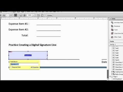 Creating a Digital Signature Form Field in Adobe Acrobat