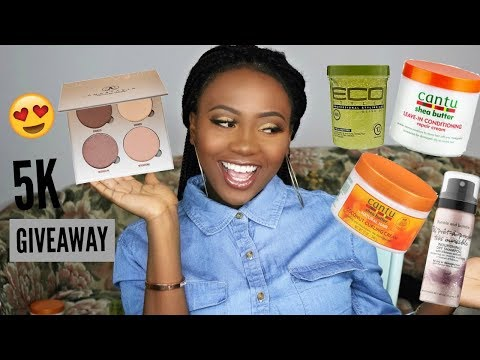 5K SUBSCRIBERS GIVEAWAY   MAKEUP & HAIR PRODUCTS 😍