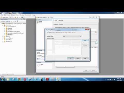 How Import database .bak to SQL Server 2008