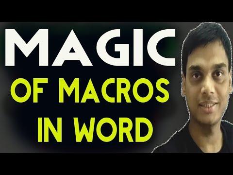 How to use Macros in word 2007/10/13/16    Magic Of Macros in word   Hindi