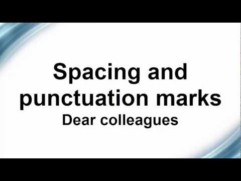 The use of punctuation marks in Microsoft Word