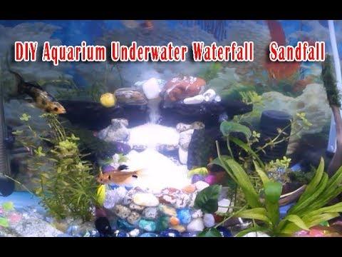 DIY Aquarium Underwater Waterfall   Sandfall Using Powerhead