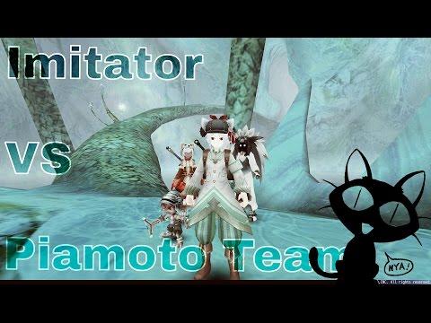 Imitator VS PiamotoTeam (1h-Knuckles , Mercenary,Pet) // Toram Online