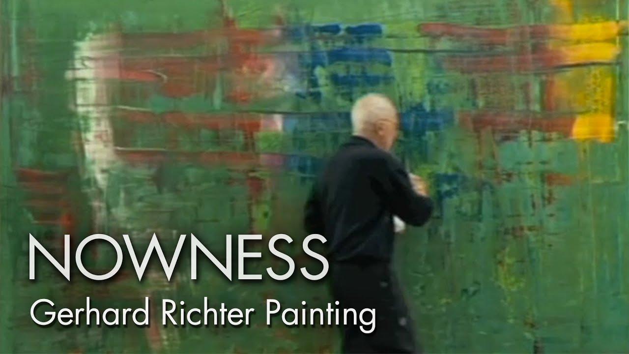 Gerhard Richter Painting: watch the master artist at work