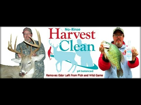 HARVEST CLEAN: Removes fish and wild game odor from your hands